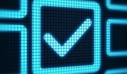 Checkbox on digital screen