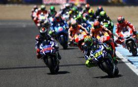 moto durante una gara