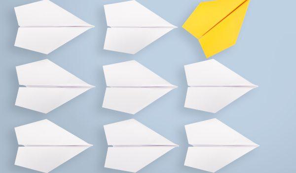 origami concetto di cambiamento