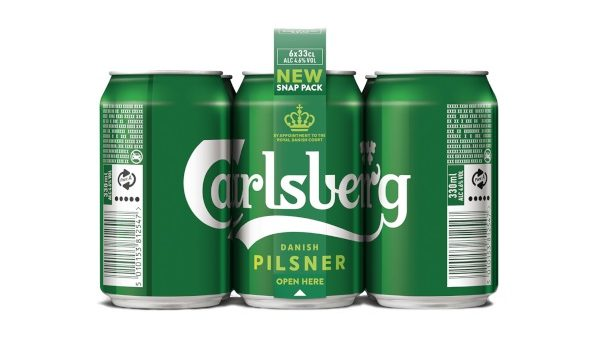 Lattine di birra Carlsberg