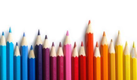Matite colorate - concetto di diversità