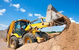 sabbia -cantiere- macchine al lavoro