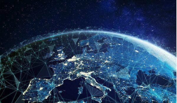 cartina del mondo che simboleggia l'europa che riparte