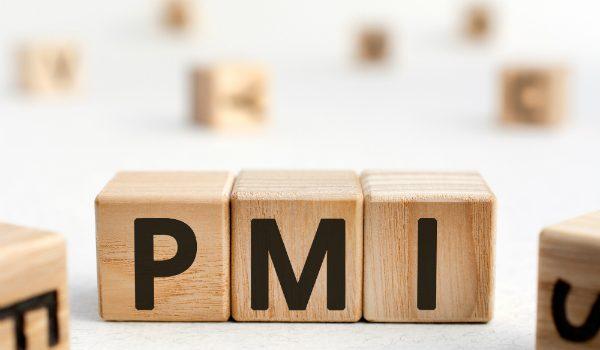 lettere in legno che compongono la scritta PMI