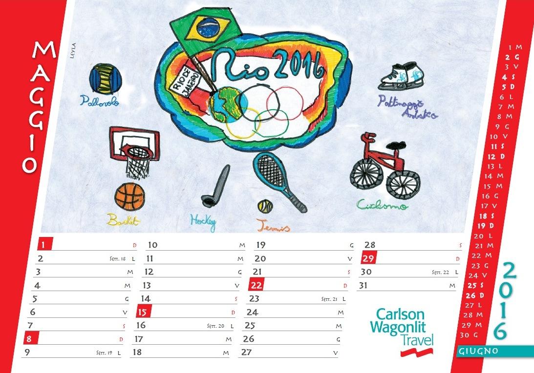 Calendario CWT Rio 2016 maggiio